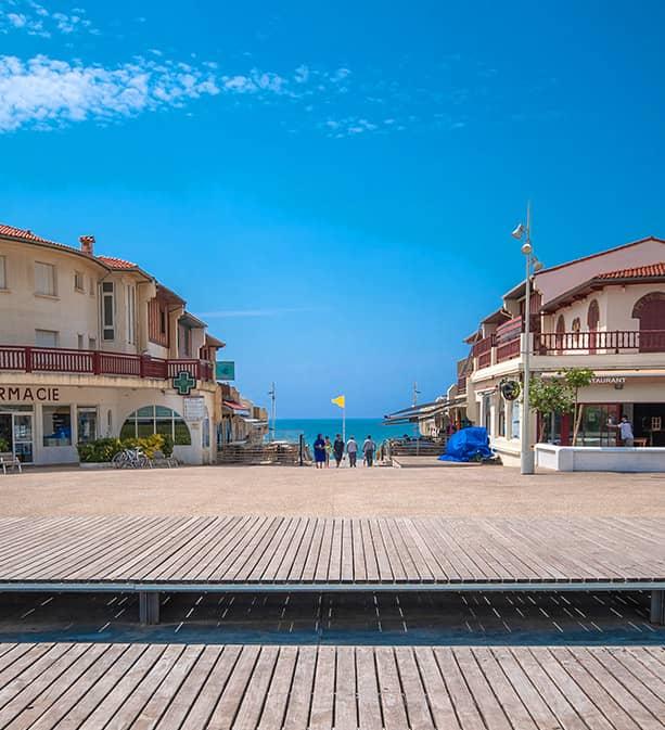 Accès plage depuis la résidence plage centrale