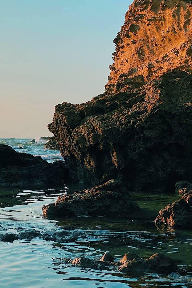 Rocher à Biarritz