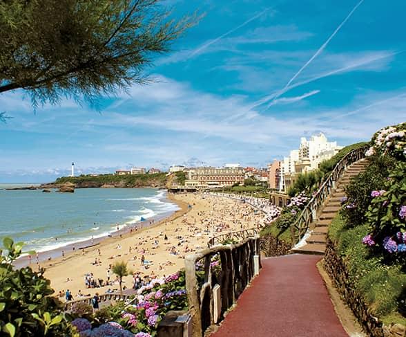 Bord de plage à Biarritz