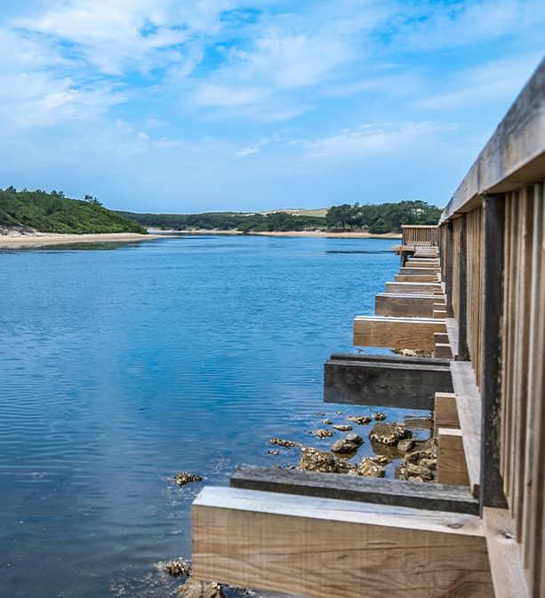 Lac marin de Port d'Albret à Vieux-Boucau