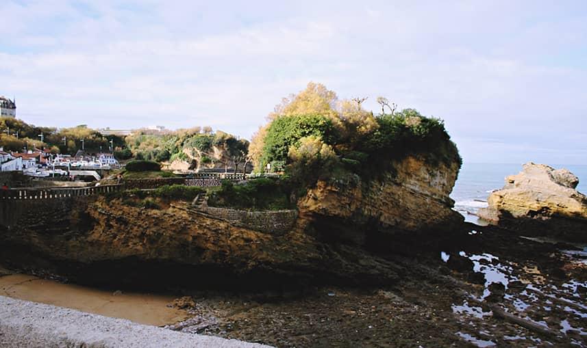 Paysage rocheux de Biarritz