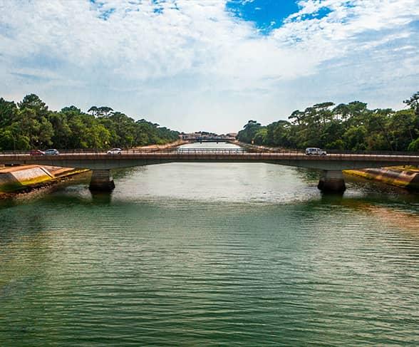 Pont et lac d'Hossegor