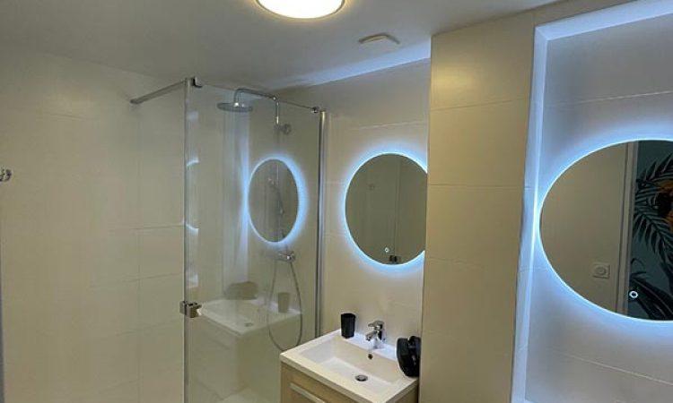 Salle de bain de l'appartement bellevue clémenceau