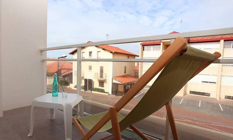 Balcon t2 supérieur résidence lagocéan