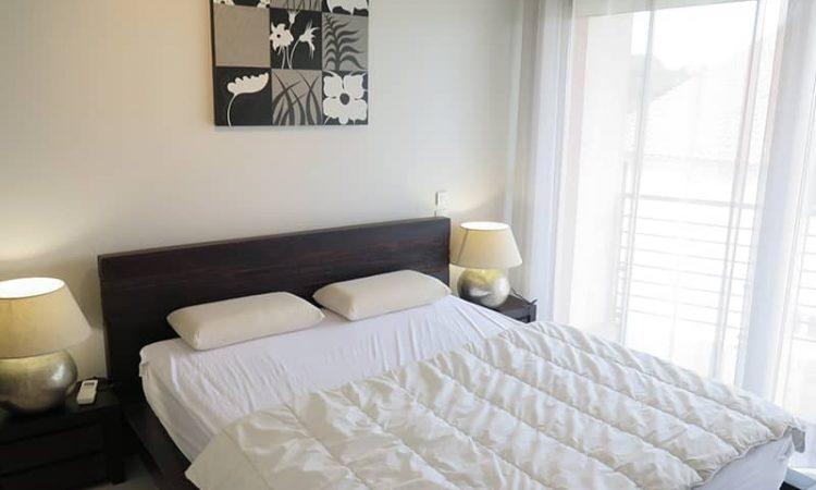 Chambre double du T3 luxe à la Plage Centrale