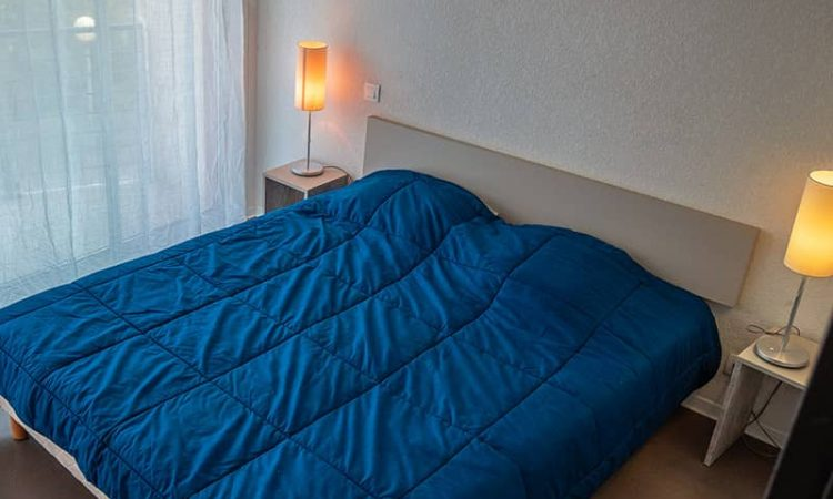 Chambre double t2 cabine résidence plage centrale