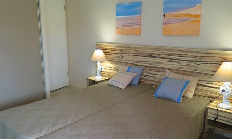 Chambre avec lits simples t3 résidence les sables d'or