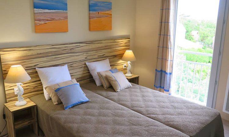 Chambre avec lits simples t4 résidence les sables d'or