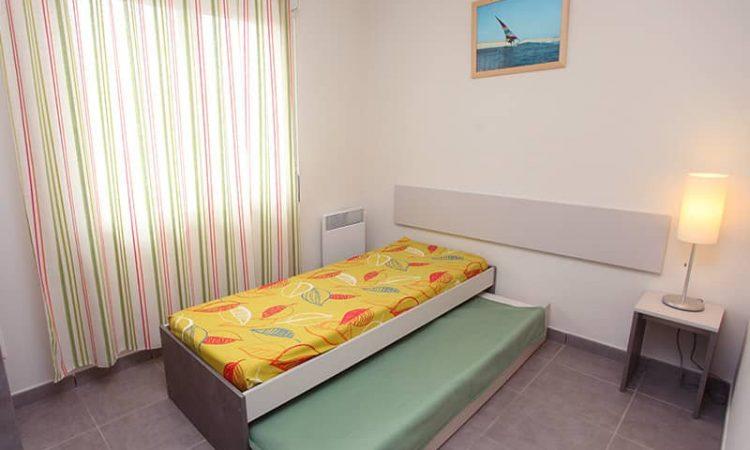 Chambre avec lits simples t3 supérieur résidence lagocéan