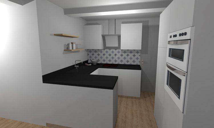 cuisine de l'appartement bellevue clémenceau