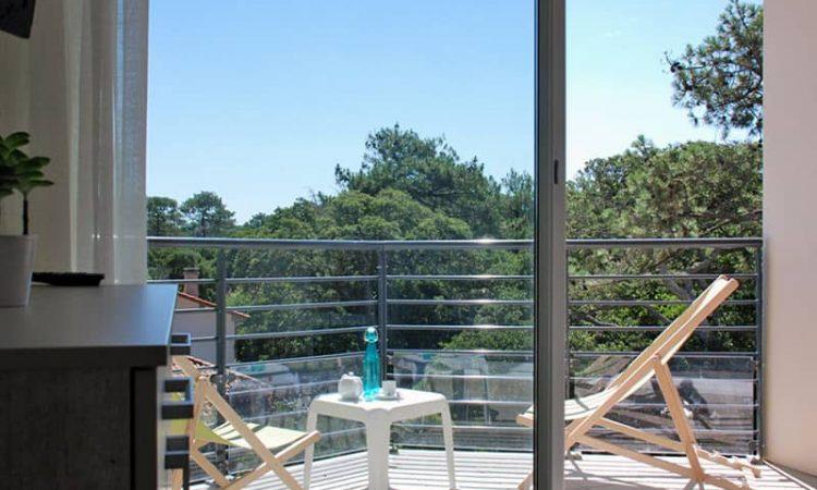 Balcon t2 cabine résidence plage centrale