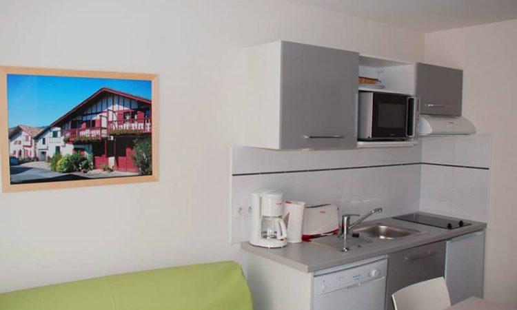 Kitchenette t2 classic résidence lagocéan