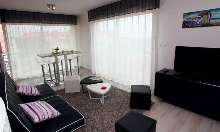 Salon t3 prestige résidence plage centrale