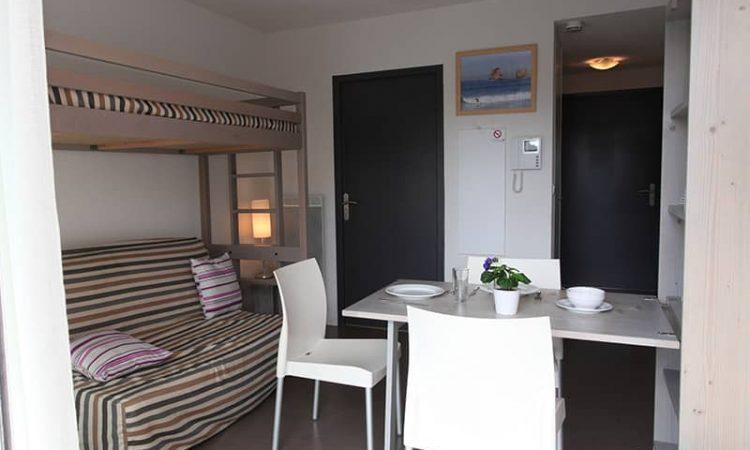 Salon studio résidence plage centrale