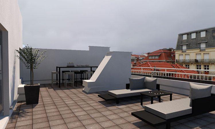Terrasse t3 prestige résidence bellevue clémenceau